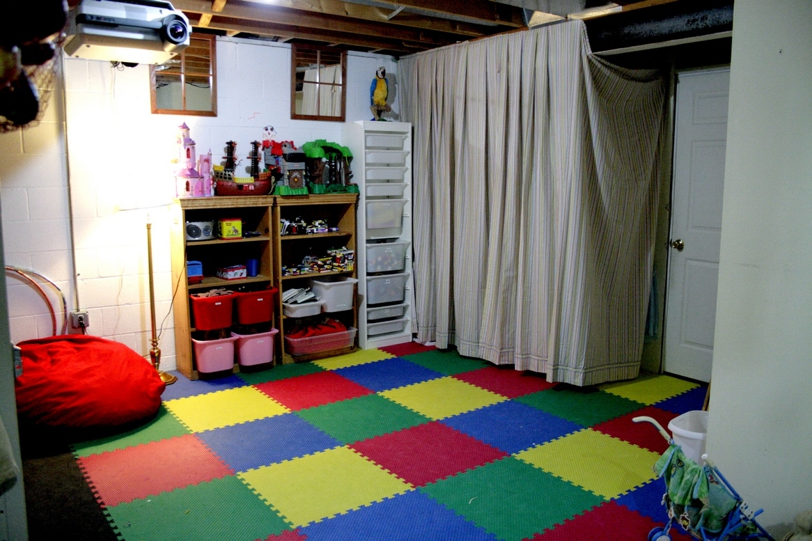 Unfinished basement storage ideas - Playroom Organization Made Fun My Blessed Home Unfinished Basement Ideas
